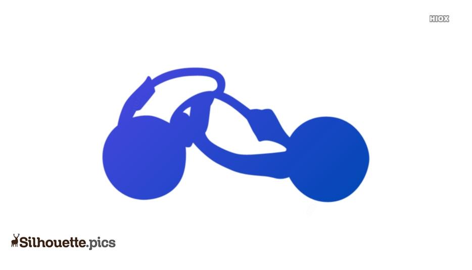Knot Earrings Silhouette Drawing
