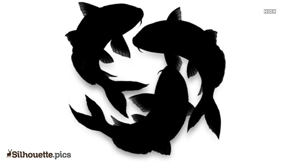 Koi Fish Art Silhouette