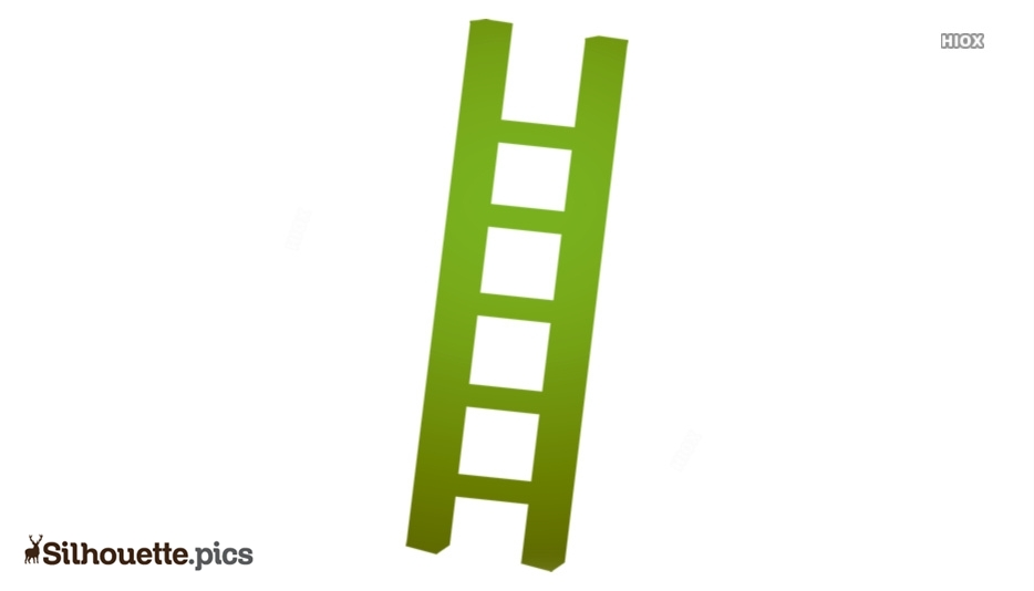 Ladder Step Silhouette Image And Vector