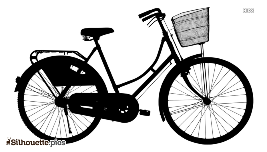 Ladies Bicycle Silhouette Image