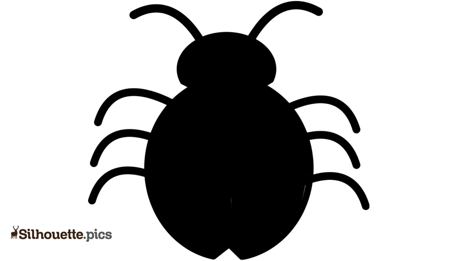 Lady Bug Silhouette Icon