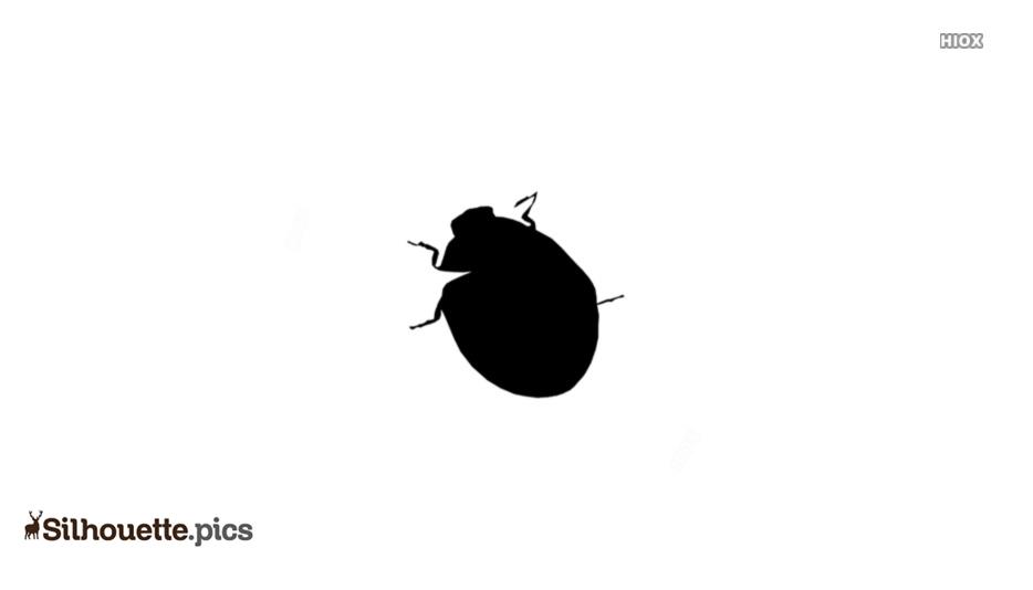 Ladybug Silhouette Background