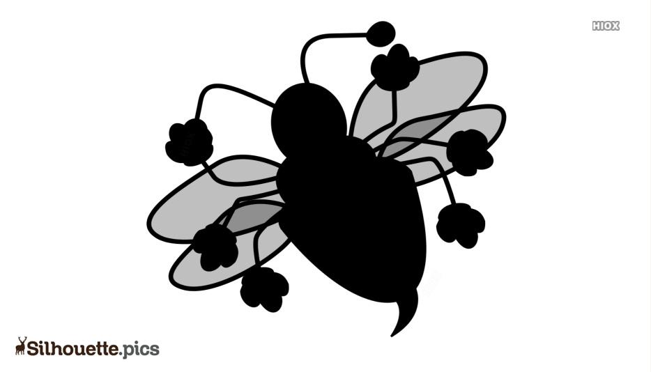 Ladybug Silhouette Drawing