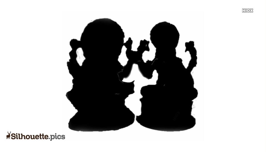 Lakshmi Ganesh Murti Silhouette
