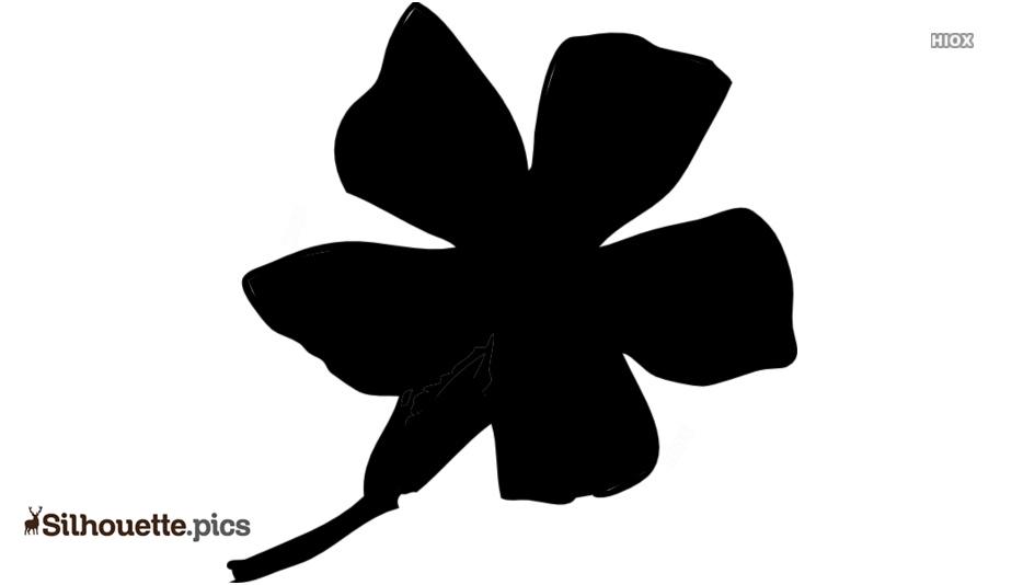 Larkspur Flower Silhouette Clipart