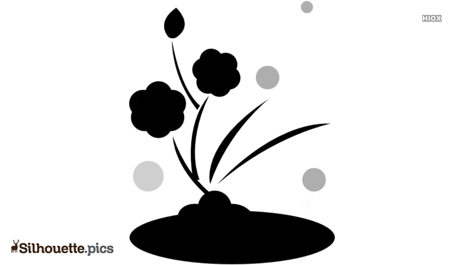 Lily Pad Black And White Silhouette Clipart