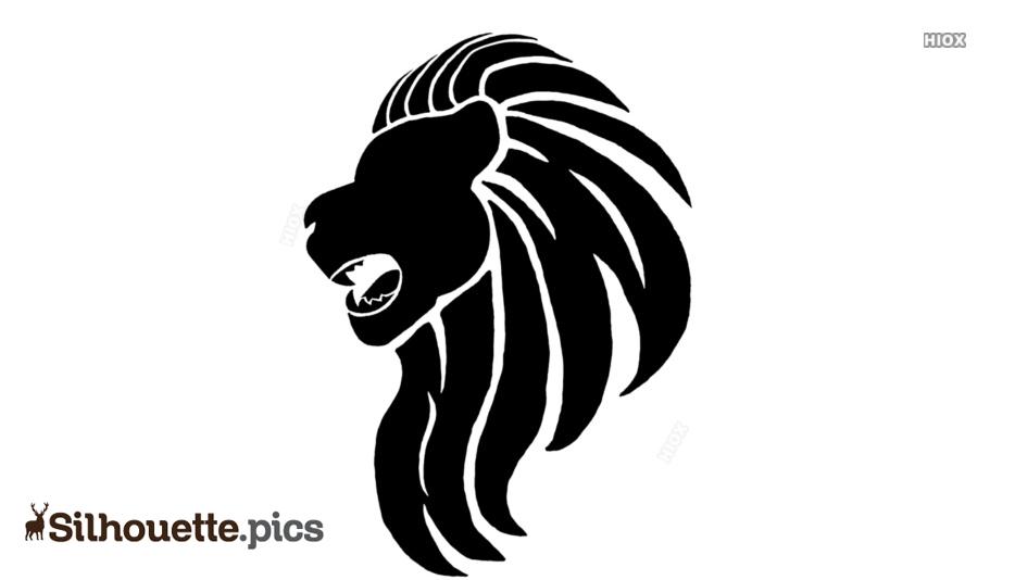 Lion Head Tattoo Silhouette