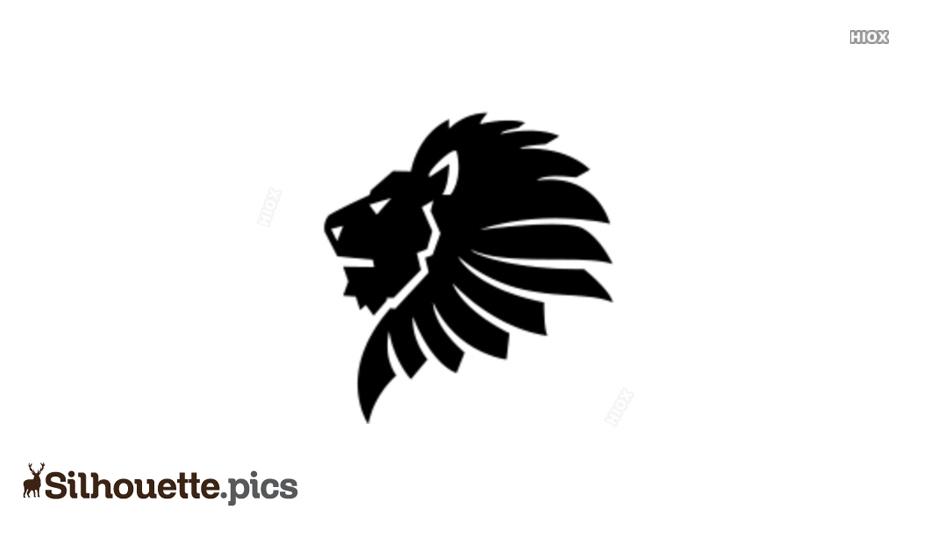Lion Head Vector Clipart Silhouette