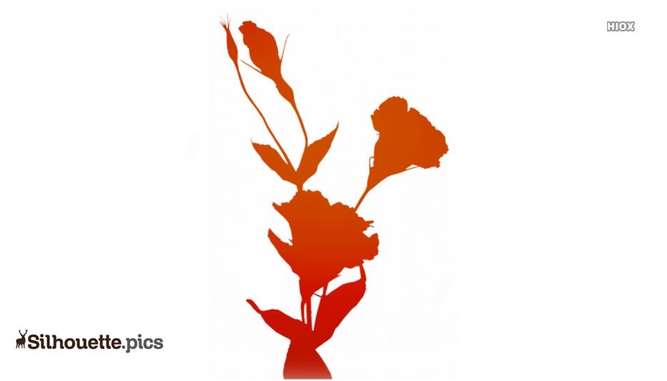 Lisianthus Silhouette Clip Art Picture
