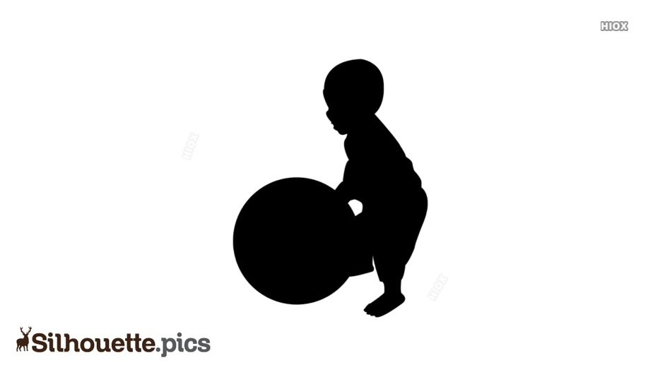 Little Boy Playing Ball Silhouette