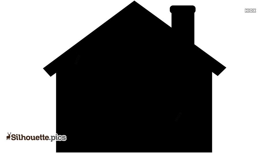 Little House Line Art Silhouette