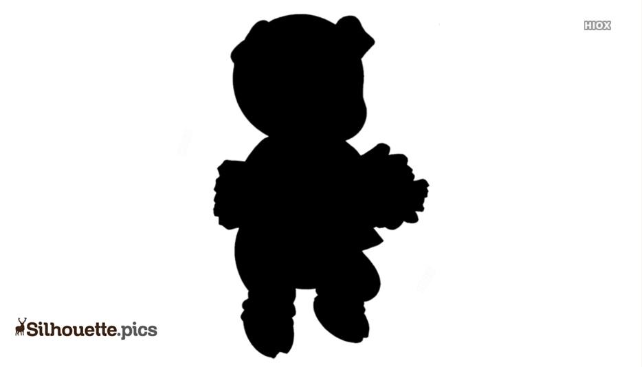 Little Pig Cartoon Silhouette