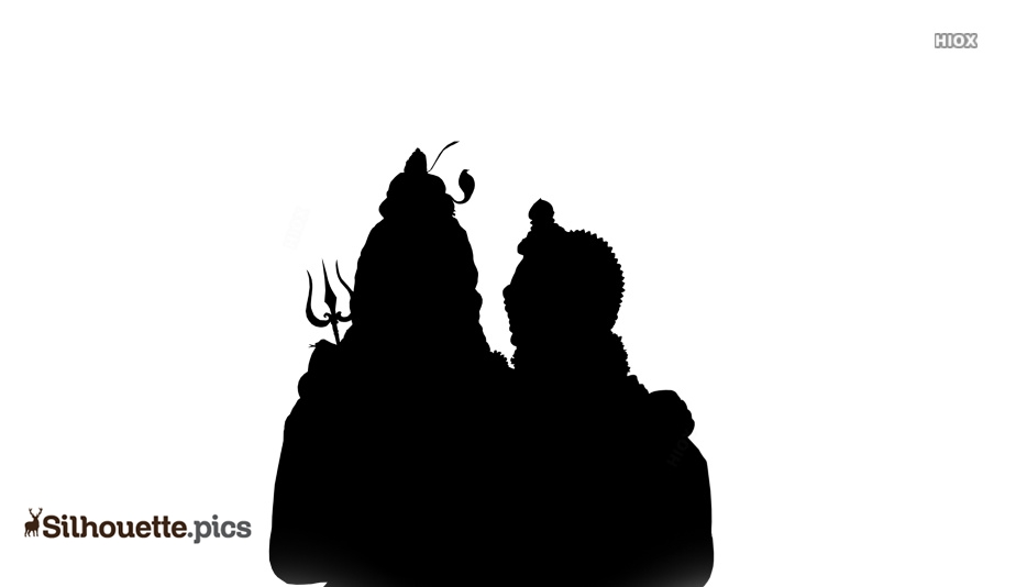 Lord Shiva and Parvati Silhouette