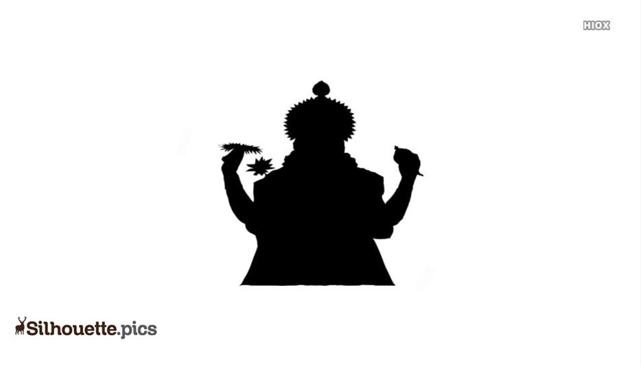 Lord Vishnu Silhouette