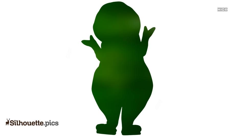 Love Barney Silhouette, Clipart