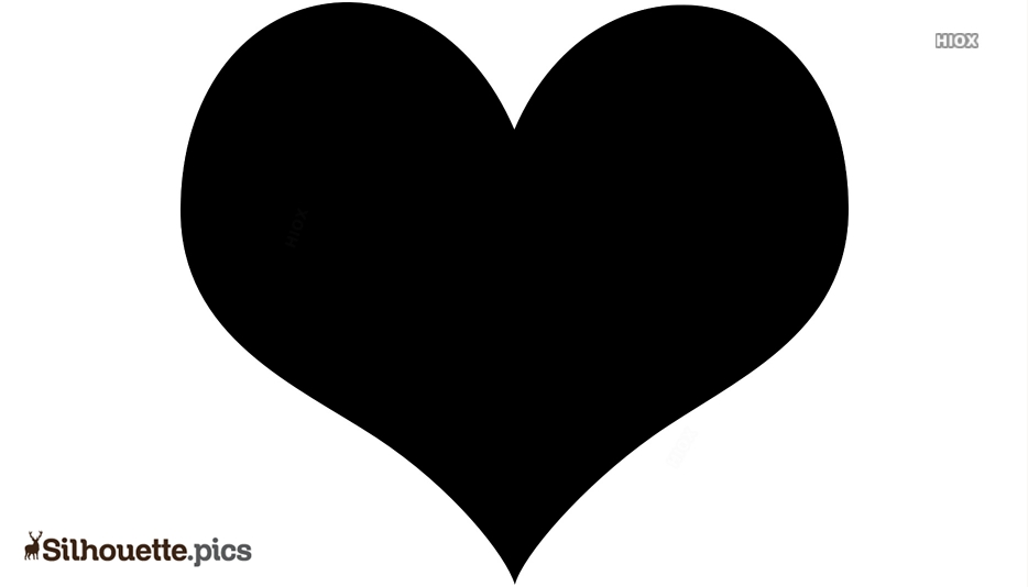 Love Heart Silhouette Vector And Graphics