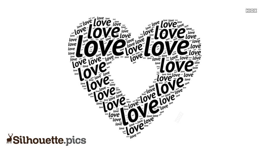 Love Heart Vector Silhouette