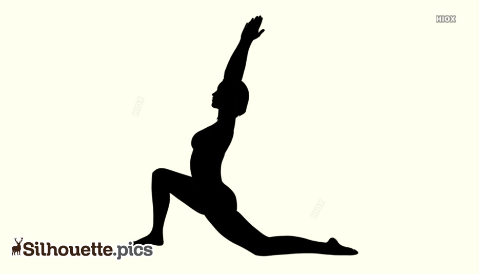 Low Lunge Yoga Pose - Forte Yoga Silhouette