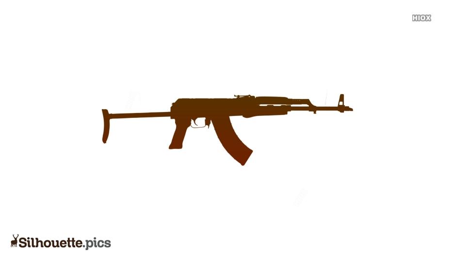 M4 Carbine Silhouette Clip Art