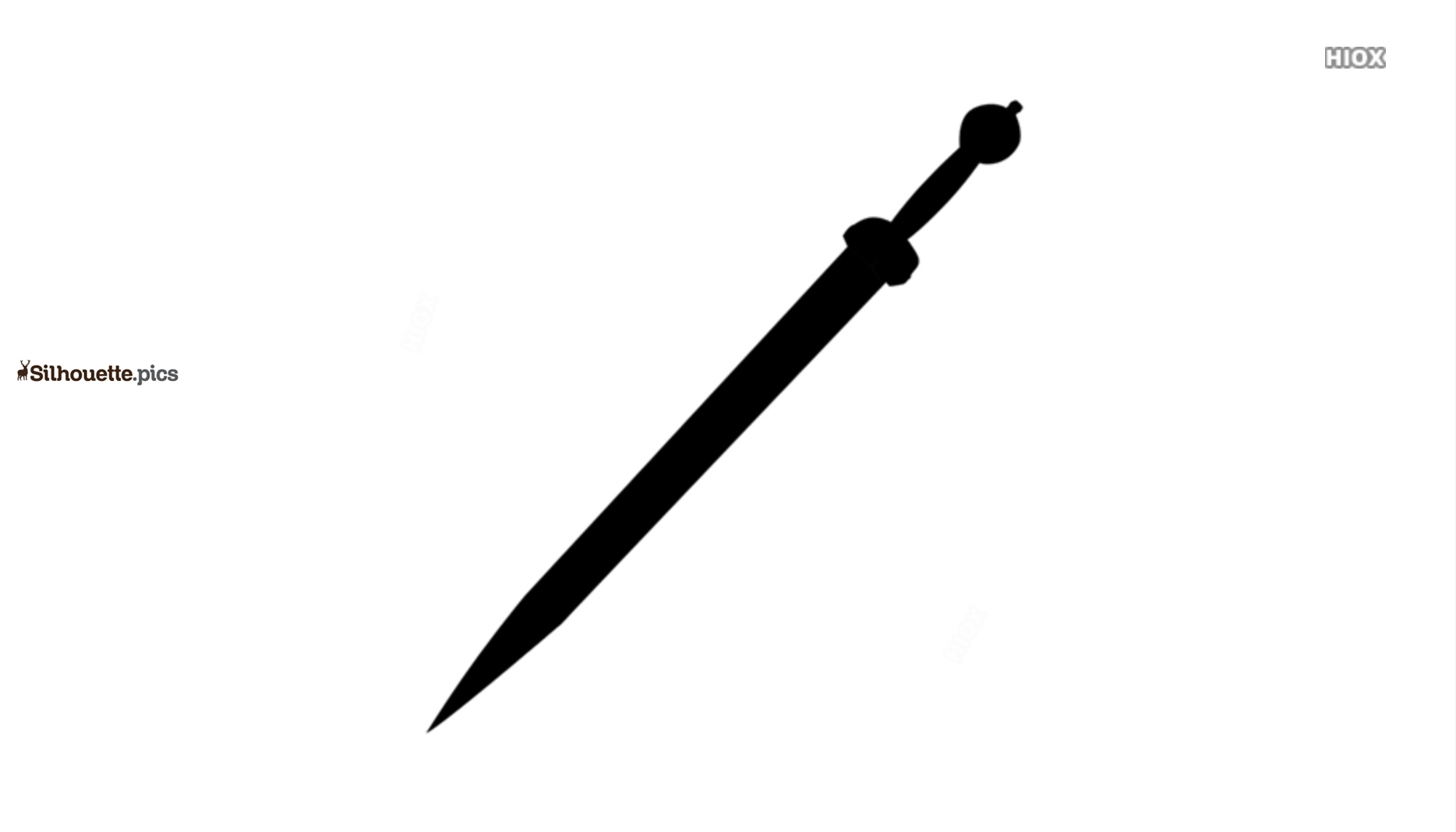Mainz Gladius Silhouette Vector And Graphics