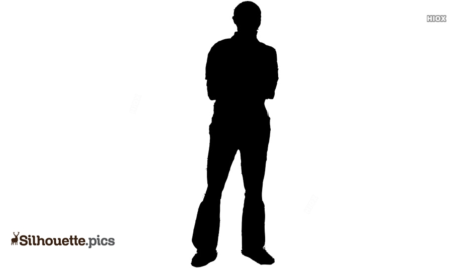 Male Model Silhouette Clipart