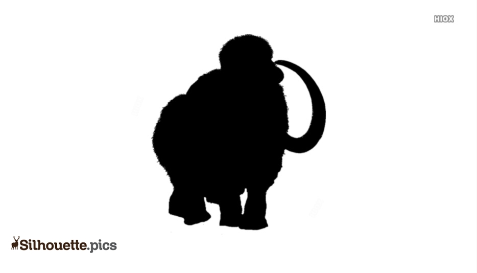 Mammoth Elephant Silhouette Icon