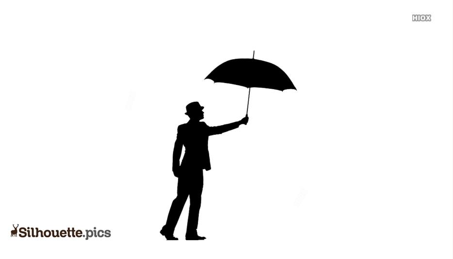 30+ Person Holding Umbrella Silhouette Gif