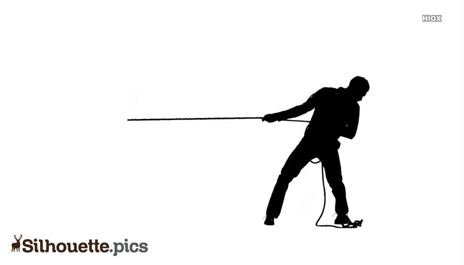 Man Pulling Rope Clipart
