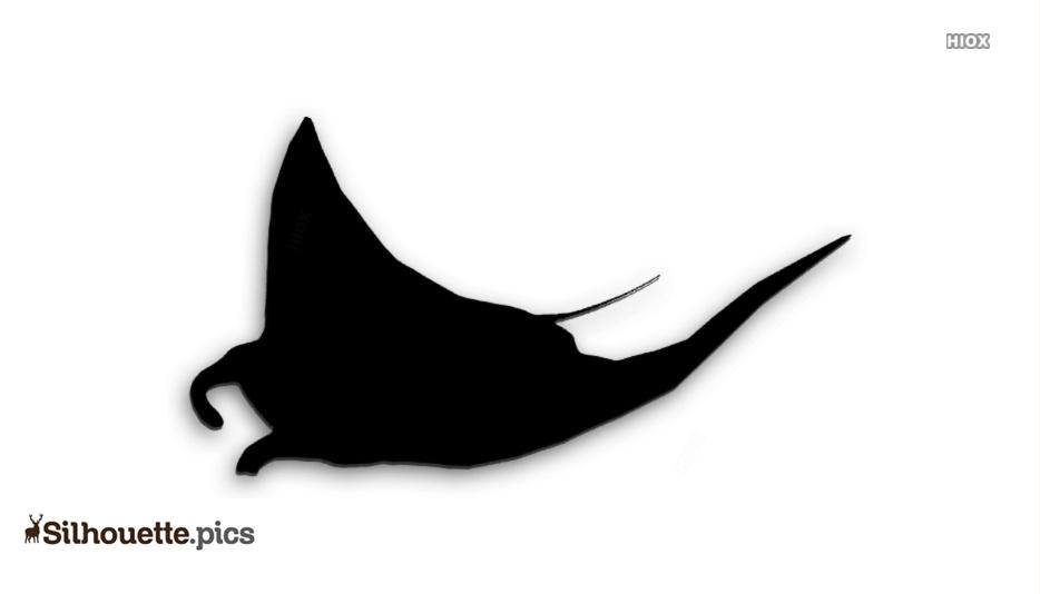 Manta Ray Silhouette Clip Art