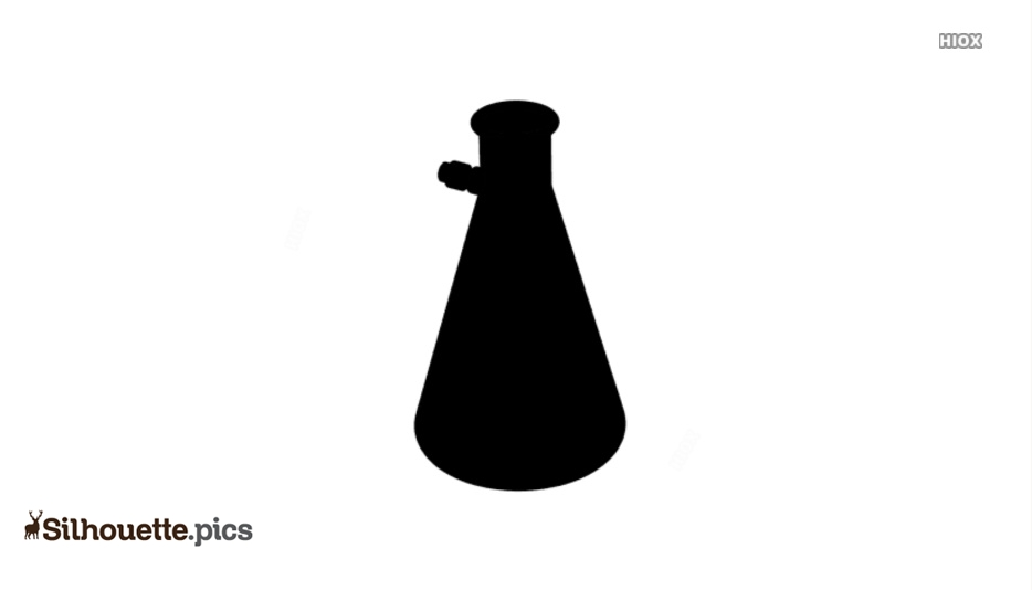 Measuring Flask Silhouette Outline