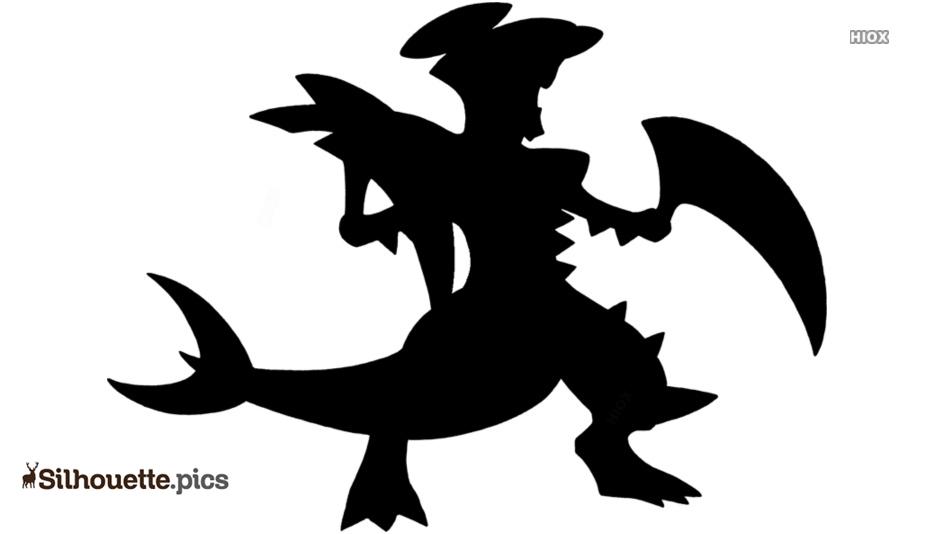 Mega Garchomp Silhouette Drawing