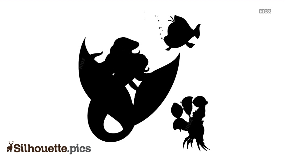 Mermaid With Fish Silhouette