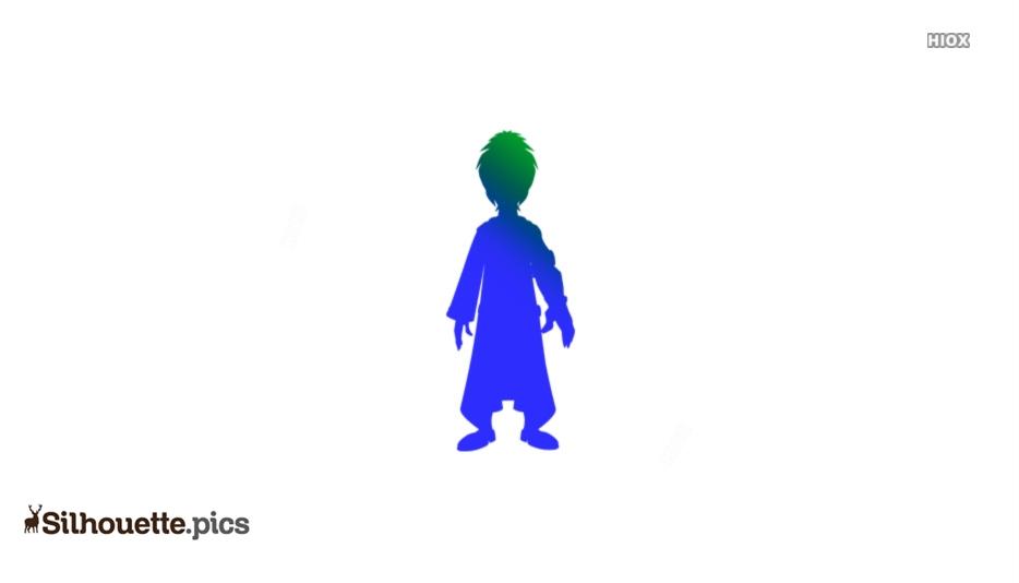 Mighty Raju Cartoon Character Silhouette