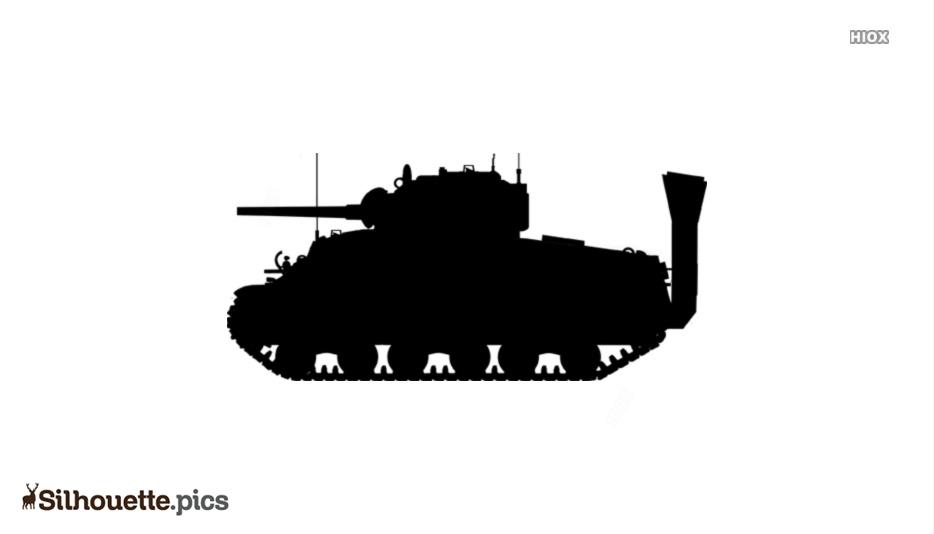 Military Tank Silhouette Clip Art