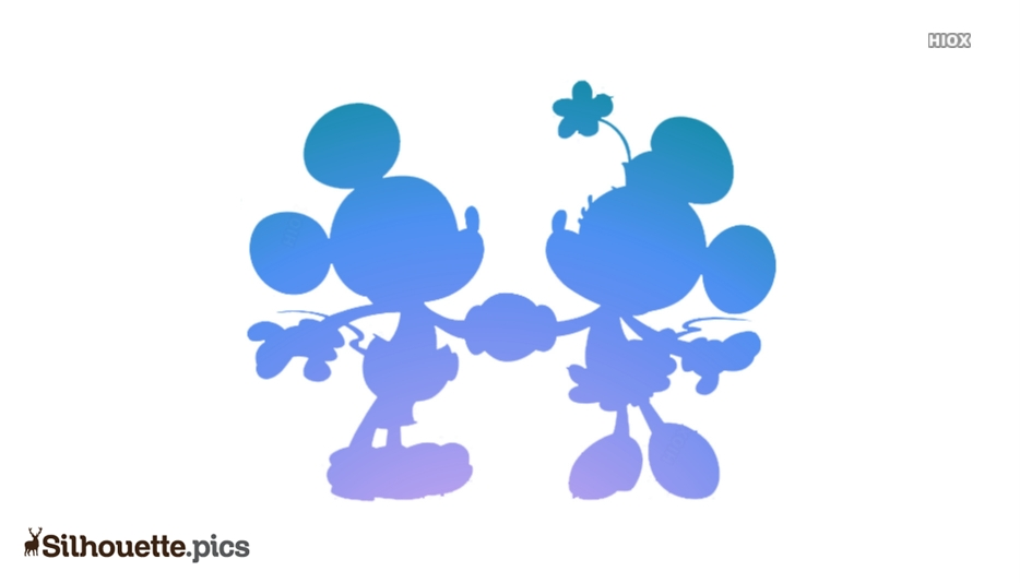 Minnie And Mickey Mouse Silhouette Art