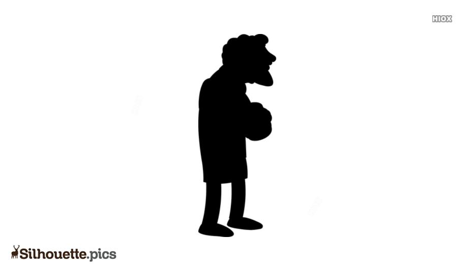 Moe Szyslak Silhouette Clipart