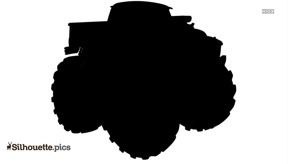 Monster Truck Silhouette Free Vector Art