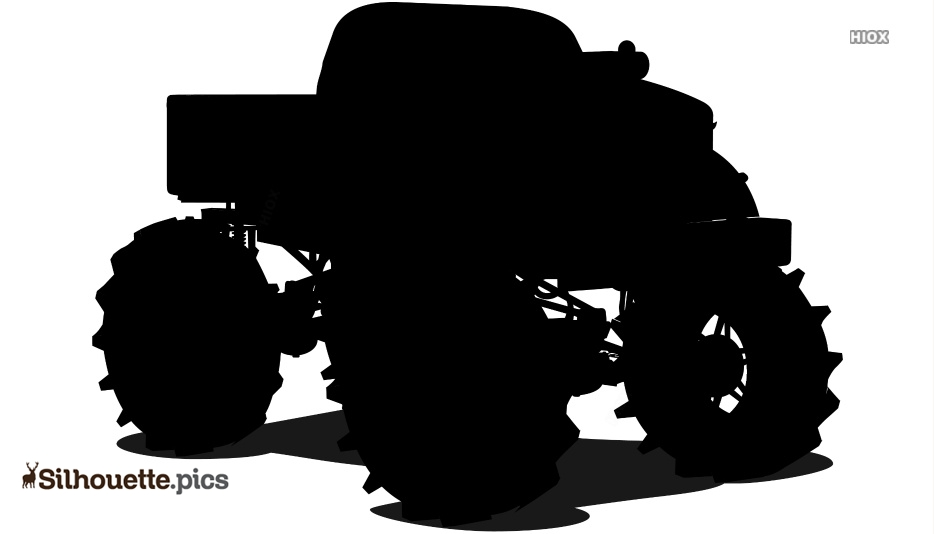 Monster Truck Silhouette Image And Vector