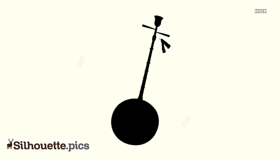 Moon Lute Silhouette Image