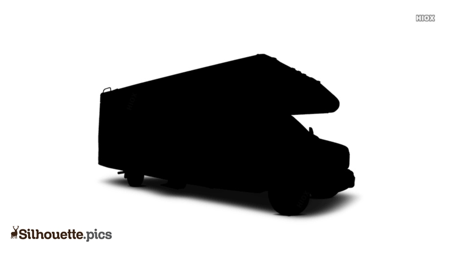 Motorhome Side View Silhouette Image