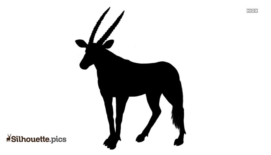 Mountain Deer Vector Silhouette Image