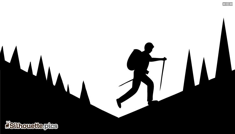 Mountain Trekking Silhouette
