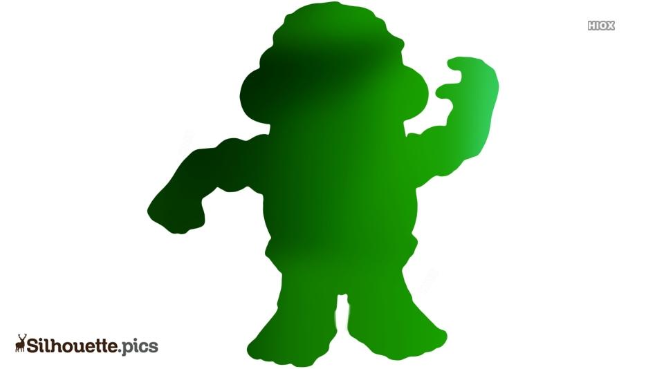 Mr Potato Head Silhouette Drawing