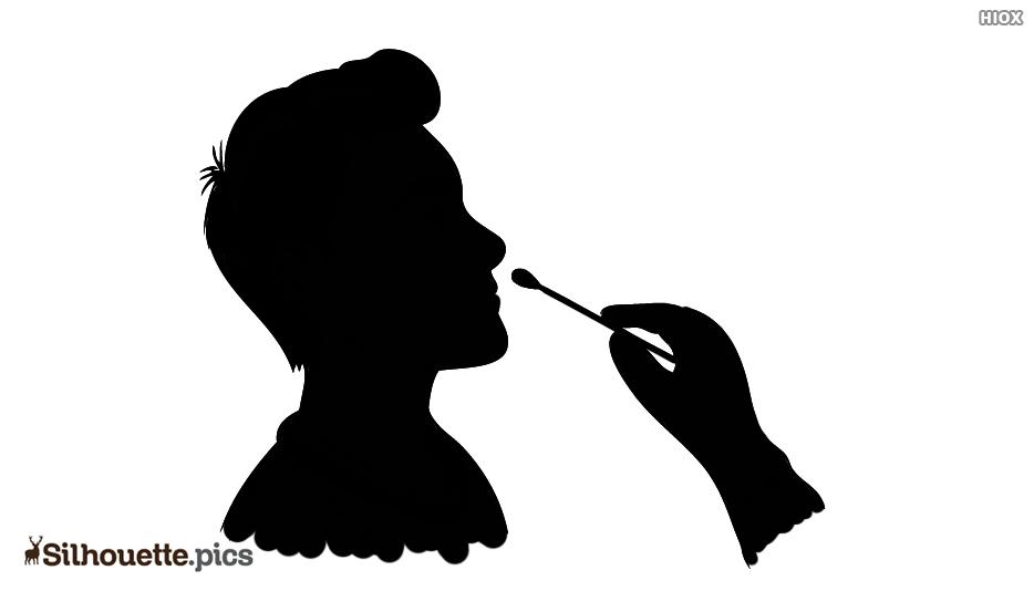 Nasal Swab Silhouette Icon Vector Image