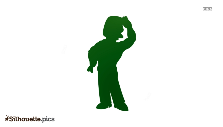Ned Flanders Silhouette Vector And Graphics