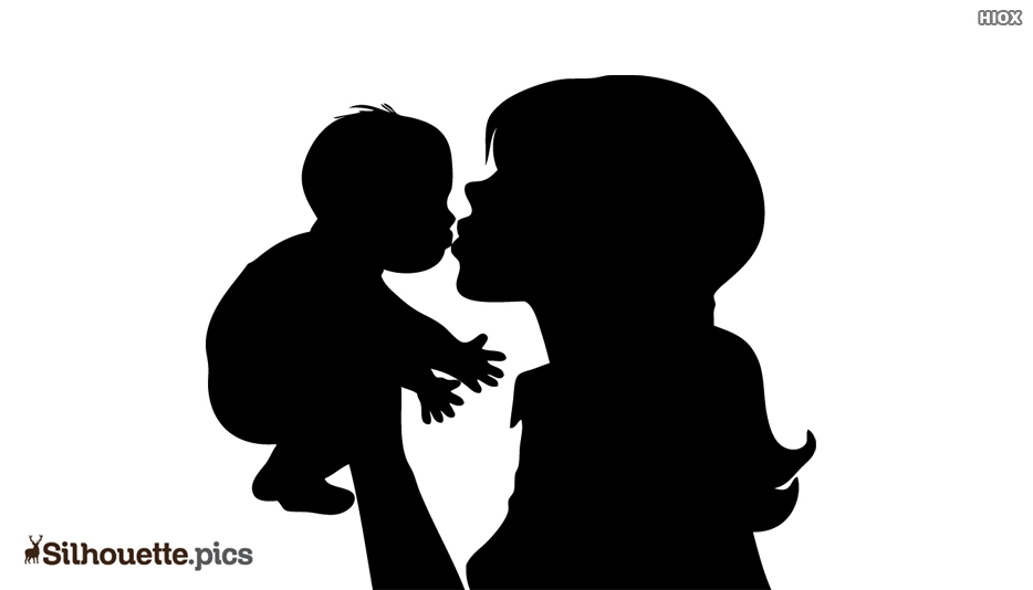 New Born Baby In Hand Silhouette