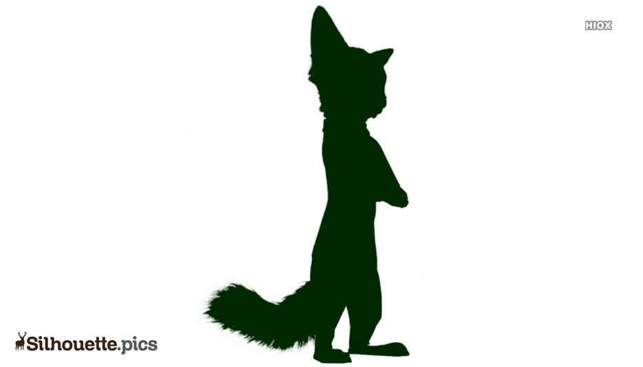 Nick Wilde Silhouette Free Vector Art
