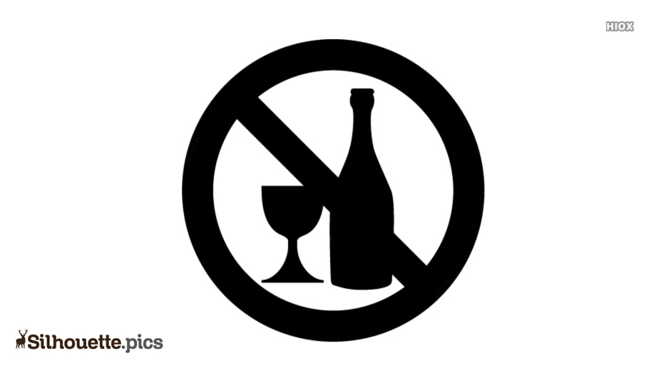 No Drinking Silhouette Illustration