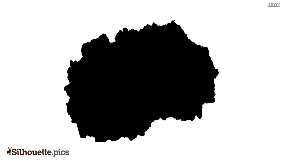 North Macedonia Map Silhouette Art