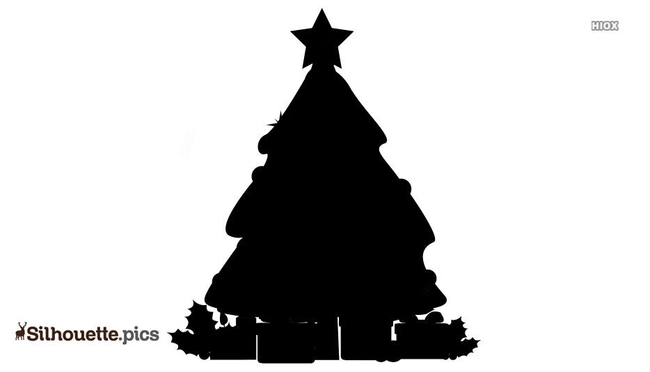 Nutcracker Xmas Tree Clipart Silhouette